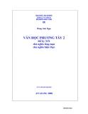 Giáo trình văn học phương tây II - Chương 1