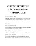 Giáo trình quản trị du lịch lữ hành - Chương 3