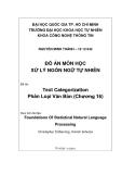 Đề tài:  Text Categorization Phân Loại Văn Bản (Chương 16)