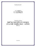 Bài giảng Những nguyên lý cơ bản của chủ nghĩa Mác - Lênin (phần 1) - ĐH Đà Nẵng