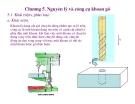 Bài giảng nguyên lý cắt gọt gỗ : Nguyên lý và công cụ khoan gỗ part 1