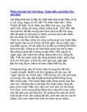 Phân tích bài thơ Vội Vàng - Xuân diệu của thầy Chu văn Sơn