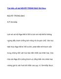 Tìm hiểu về bài NGƯỜI TRONG BAO