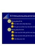 Các phương pháp giải bài toán qui hoạch tuyến tính