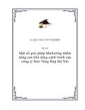 """Luận văn """"Một số giải pháp Marketing nhằm nâng cao khả năng cạnh tranh của công ty Sơn Tổng Hợp Hà Nội"""""""