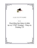 """Luận văn """" Hoạt động bán hàng cá nhân tại cty VTKT Ximăng - Tổng cty Ximăng VN """""""
