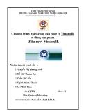 """Tiểu luận """"Chương trình Marketing của công ty Vinamilk về dòng sản phẩm  Sữa tươi Vinamilk"""""""