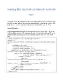 Hướng dẫn lập trình cơ bản và nâng cao với Android 7
