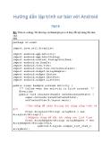 Hướng dẫn lập trình cơ bản và nâng cao với Android 9