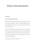Tổng quan Histamin và thuốc kháng histamin
