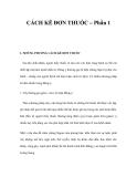 CÁCH KÊ ĐƠN THUỐC – Phần 1