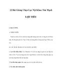 22 Bài Giảng Chọn Lọc Nội Khoa Tim Mạch - LỢI TIỂU