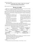 Đề thi lý thuyết tin học A ngày 22-12-2007