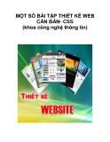 MỘT SỐ BÀI TẬP THIẾT KẾ WEB CĂN BẢN- CSS (khoa công nghệ thông tin)._1
