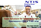 Open Solutions for Smart Business Opensource CRM & Triển khai