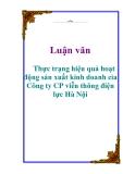 Luận văn: Thực trạng hiệu quả hoạt động sản xuất kinh doanh cỉa Công ty CP viễn thông điện lực Hà Nội