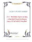 Luận văn : Hoàn thiện công tác xây dựng và thực hiện kế hoạch bán hàng tại công ty CP Vật Tư BVTV Hòa Bình