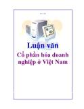 Đề tài: Cổ phần hóa doanh nghiệp ở Việt Nam