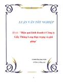 LUẬN VĂN Đề tài: Hiệu quả kinh doanh ở Công ty Giầy Thăng Long thực trạng và giải pháp