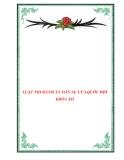 LUẬT THI HÀNH ÁN DÂN SỰ CỦA QUỐC HỘI KHÓA XII