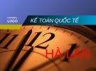 đề tài kế toán quốc tế - Th.s Trần Thị Minh Thảo