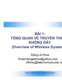 Bài giảng: Tổng quan về truyền thông không dây