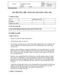 Bản mô tả công việc Giám sát bán hàng siêu thị