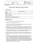 Bản mô tả công việc Nhân viên bán hàng