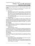 Bài giảng Kỹ thuật xử lý nước thải –  Chương 2: XỬ LÝ NƯỚC THẢI BẰNG PHƯƠNG PHÁP CƠ HỌC