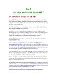 Bài 1 Sơ lược về Visual Basic.NET