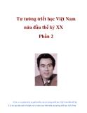 Tư tưởng triết học Việt Nam nửa đầu thế kỷ XX Phần 2