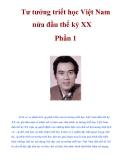 Tư tưởng triết học Việt Nam nửa đầu thế kỷ XX Phần 1