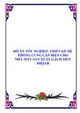 ĐỒ ÁN TỐT NGHIỆP: THIẾT KẾ HỆ THỐNG CUNG CẤP ĐIỆN CHO NHÀ MÁY SẢN XUẤT GẠCH MEN SHIJAR