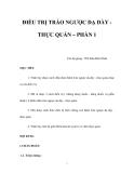 ĐIỀU TRỊ TRÀO NGƯỢC DẠ DÀY THỰC QUẢN – PHẦN 1