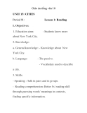 Giáo án tiếng anh lớp 10: UNIT 15: CITIES Period