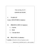 Giáo án tiếng anh 10 bài:  LESSON OUTLINEI.WARM-UP