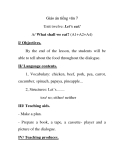 Giáo án tiếng tiếng anh lớp 7: Unit twelve: Let's eat!