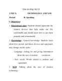 Giáo án tiếng anh 10: UNIT 5 Technology and You