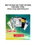 MỘT SỐ BÀI TẬP THIẾT KẾ WEB CĂN BẢN- HTML (khoa công nghệ thông tin)_2