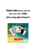 TRANG WEB TRUNG TÂM TIN HỌC SAO VIỆT- HTML (khoa công nghệ thông tin)