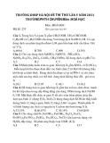 TRƯỜNG ĐHSP HÀ NỘI ĐỀ THI THỬ LẦN V NĂM 2011 TRƯỜNG PHTH CHUYÊN Môn :HOÁ