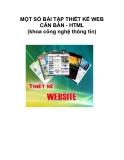 MỘT SỐ BÀI TẬP THIẾT KẾ WEB CĂN BẢN - HTML (khoa công nghệ thông tin)