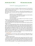 Giáo trình : Kỹ thuật nhân giống in vitro part 1
