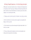 Để cuộc sống tốt đẹp hơn: - 24 Cách sống nên tránh