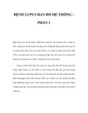 BỆNH LUPUS BAN ĐỎ HỆ THỐNG – PHẦN 1