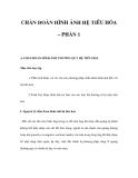 CHẨN ĐOÁN HÌNH ẢNH HỆ TIÊU HÓA – PHẦN 1