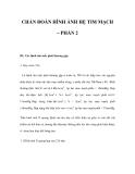 CHẨN ĐOÁN HÌNH ẢNH HỆ TIM MẠCH – PHẦN 2