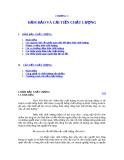 Quản trị chất lượng sản phẩm - Chương 3