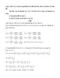 Bài tập và bài giải Toán: Xác suất thống kê