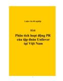 Đề tài: Phân tích hoạt động PR của tập đoàn Unilever tại Việt Nam